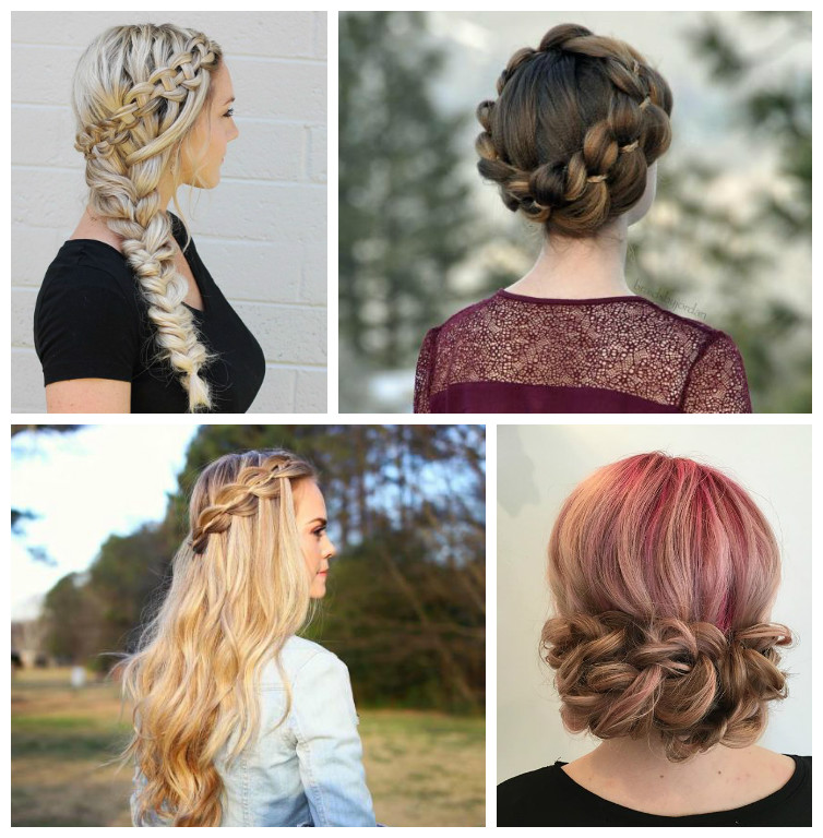 Hairstyles with Four-Strand Braids for 2017