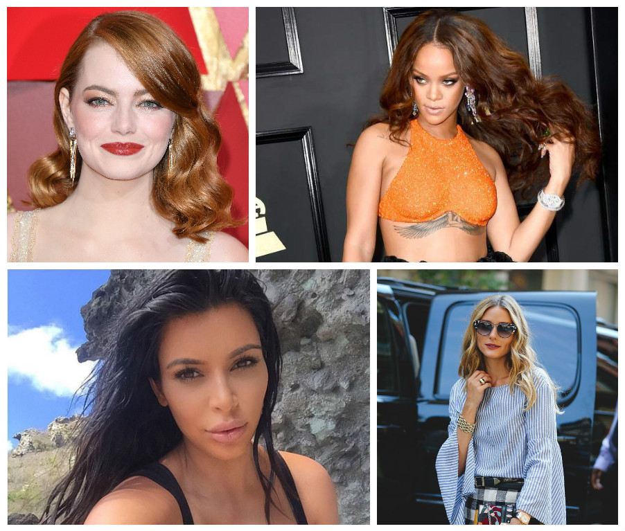 Hollywood Stars with Hair Trends 2017