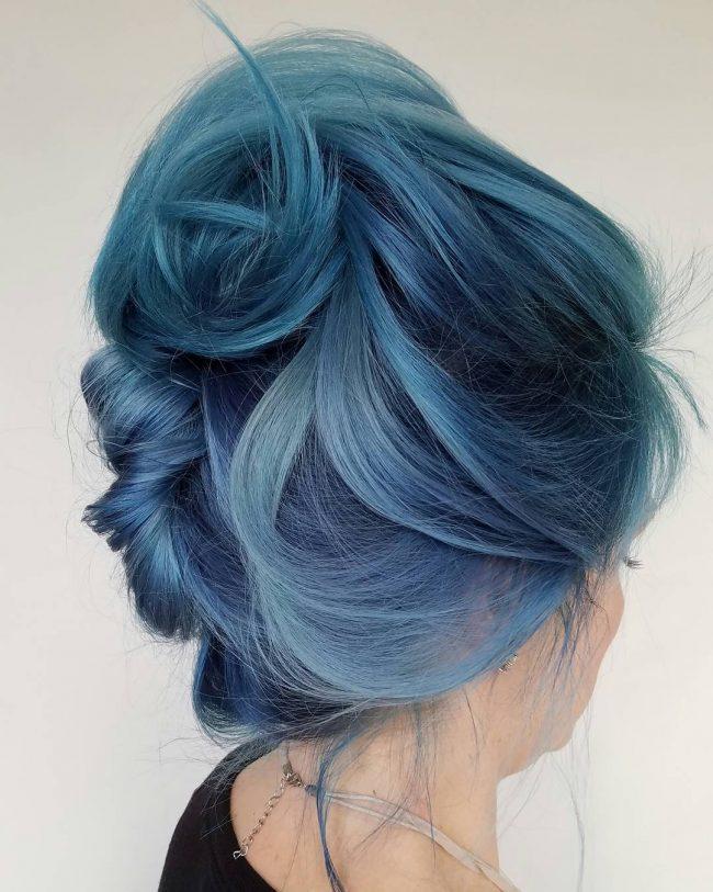 Blue French Twist