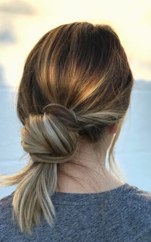 Low Knot Hairstyle
