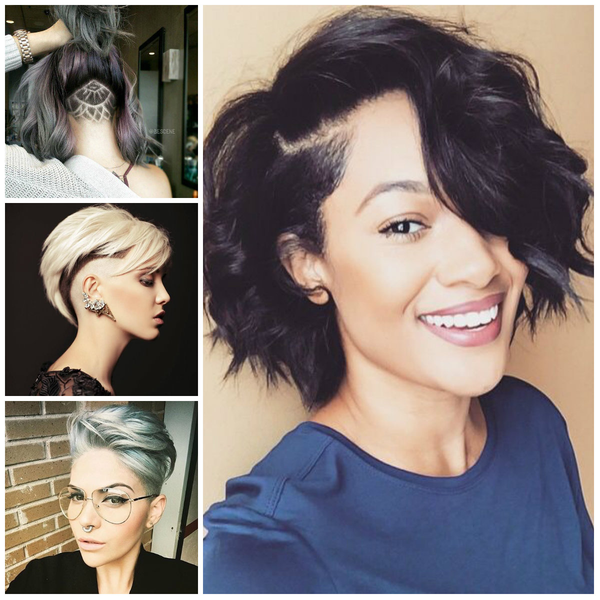 shaved hairstyles for females