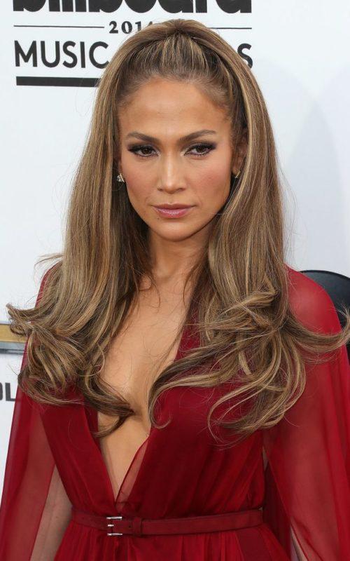 Jennifer Lopez Half Updo