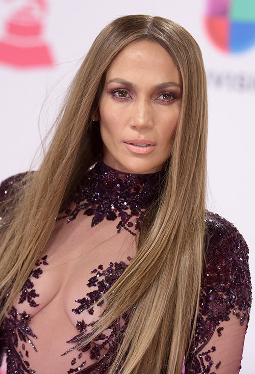 Jennifer Lopez Straight Layered Hair