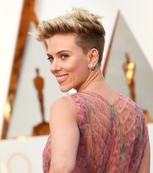 Short Hairstyle with Shaved Sides
