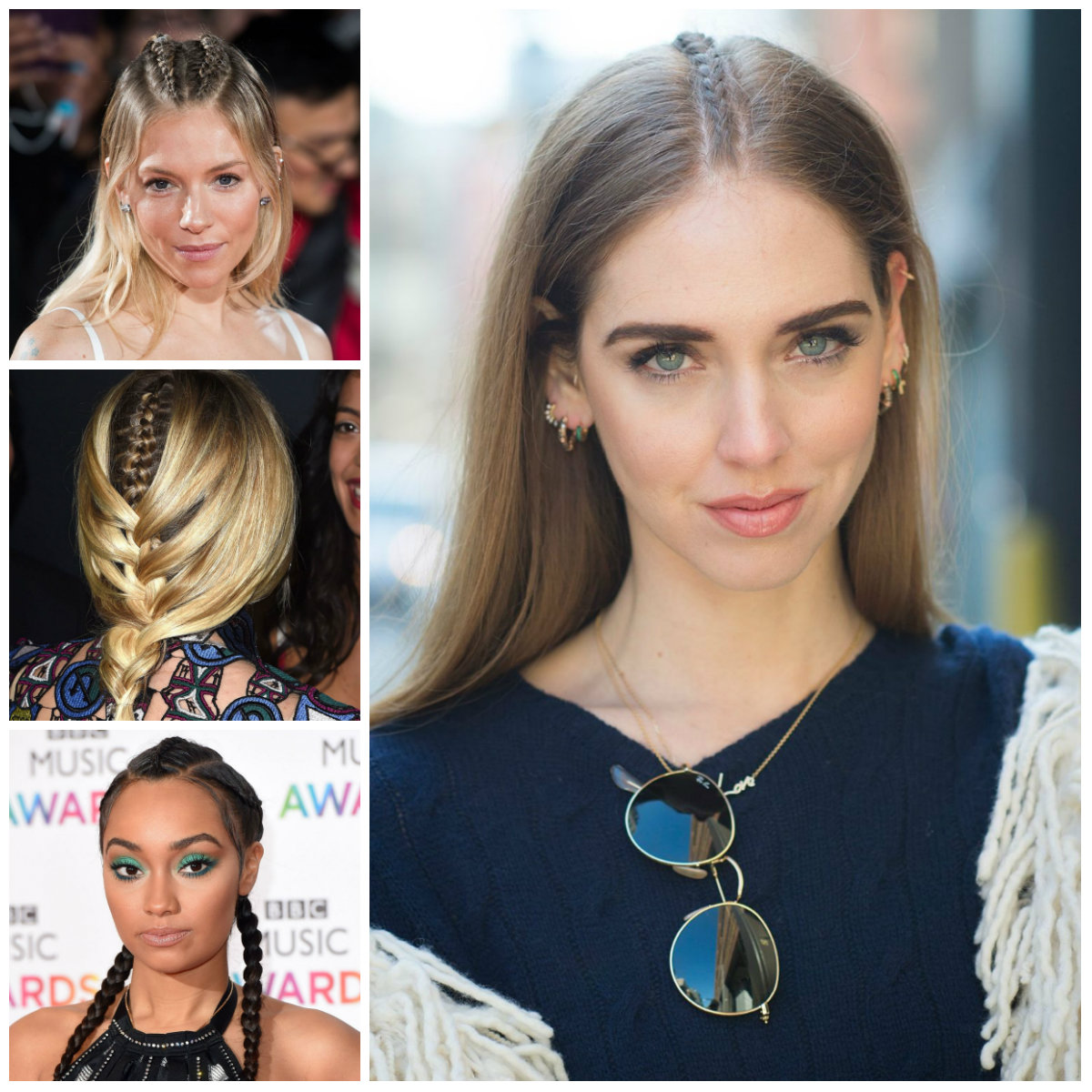 middle braid hairstyles